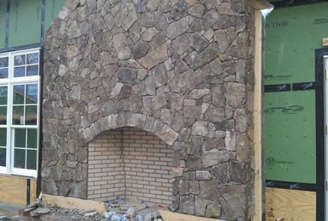 Fieldstone Fireplace - Silvara Stone