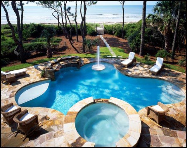 Flagstone Pool Deck Ideas For Inground Pools : Pool stone ideas silvara