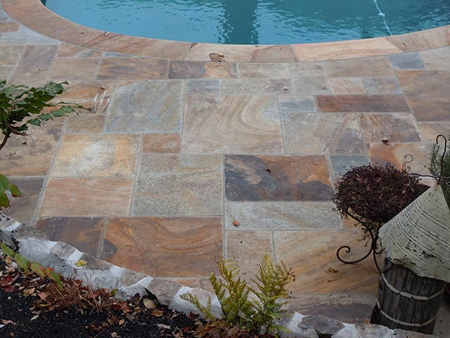 Natural cleft pattern pool stone - Silvara Stone