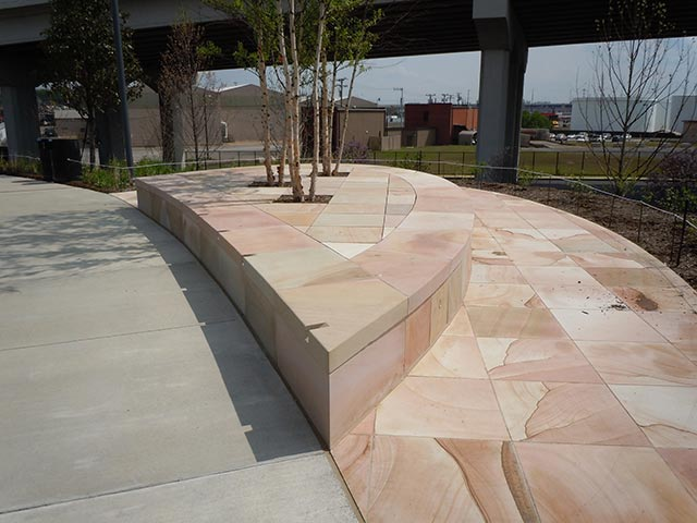 Sawed pavers and radius cap stone - Silvara Stone