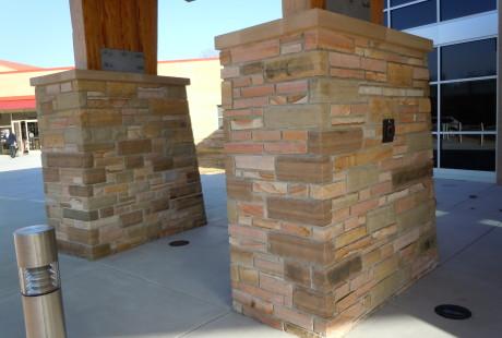 Silvara Stone tapered columns