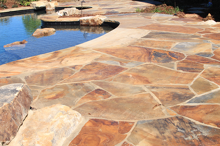 Silvara Stone Crab Orchard Flagstone and Treads